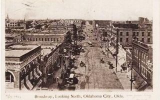 BROADWAY, LOOKING NORTH, OKLAHOMA CITY, OKLA. Oklahoma Territory