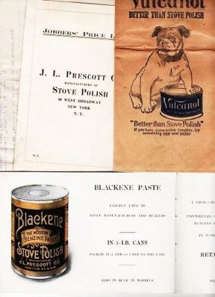 CATALOGUE AND BIT OF HISTORY: J.L. PRESCOTT COMPANY STOVE POLISH. Established 1870. James L....