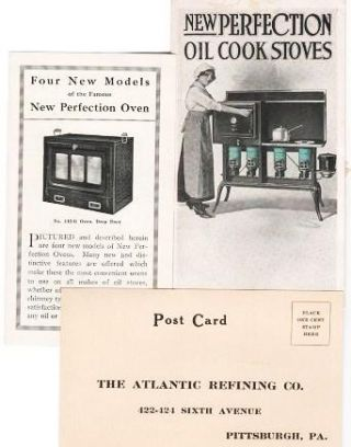 NEW PERFECTION OIL COOK STOVES. Atlantic Refining Company.