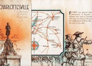 CHARLOTTESVILLE: In the Heart of Historic Virginia. Charlottesville Virginia.