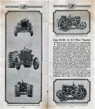 CASE KEROSENE TRACTORS AND GRAND DETOUR PLOWS