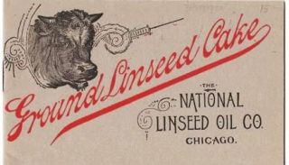 GROUND LINSEED CAKE. National Linseed Oil Co