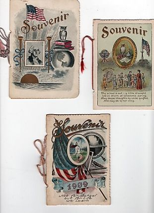 GROUP OF THREE ANNUAL SOUVENIRS, GIVEN TO PUPILS OF THE ONE-ROOM STAFFORD CENTER SCHOOL AT THE...