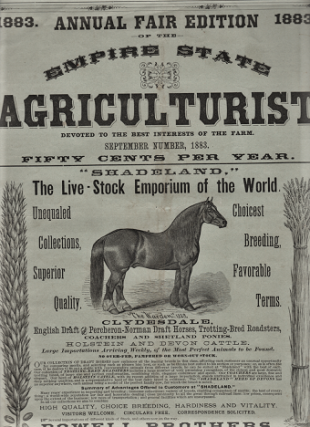THE EMPIRE STATE AGRICULTURIST: Devoted to the Best Interests of the Farm. 1883 ANNUAL FAIR EDITION. Vol. 4, No. 9, September 1883.