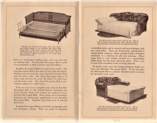 KROEHLER DAVENPORT BED: The Invisible Bed Room. Kroehler Company