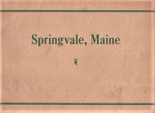 VIEWS IN AND AROUND SPRINGVALE, MAINE - 1931. Springvale Maine.