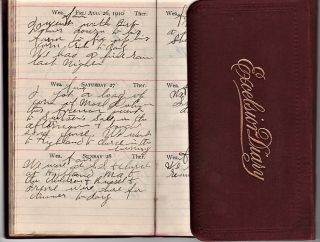 OHIO FARMER'S 1910 HANDWRITTEN DIARY. Anonymous.