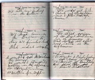 OHIO FARMER'S 1910 HANDWRITTEN DIARY
