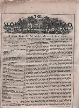 THE HOMESTEAD: A Weekly Journal for Field, Orchard, Garden and Home Culture. Vol. II, No. 51, ...
