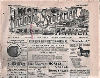 THE NATIONAL STOCKMAN AND FARMER, Vol. XVI, No. 22, September 15, 1892. Bush Axtell, publishers Co