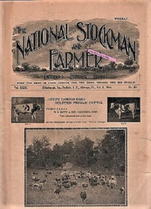 THE NATIONAL STOCKMAN AND FARMER: Group of 18 issues as listed below. Bush Axtell, publishers Co