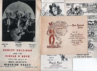 GROUP OF FIVE (5) EPHEMERA FROM THIS HOME OF WESTERN ENTERTAINMENT AT 5 NORTH CLARK STREET, CHICAGO.
