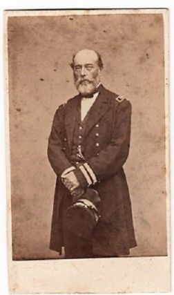 CARTE DE VISITE OF ADMIRAL CHARLES S. BOGGS IN HIS CIVIL WAR NAVAL OFFICER'S UNIFORM. Charles...