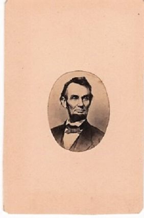 OVAL PHOTOGRAPHIC PORTRAIT OF LINCOLN. Abraham Lincoln