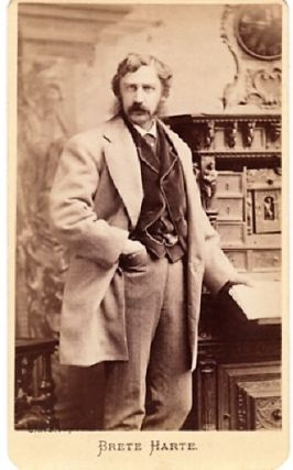 CARTE DE VISITE OF AMERICAN AUTHOR BRET HARTE, PHOTOGRAPHED BY NAPOLEON SARONY. Bret Harte.