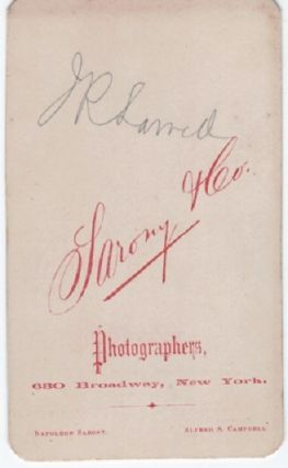 CARTE DE VISITE OF AMERICAN POET & EDITOR, JAMES RUSSELL LOWELL, PHOTOGRAPHED BY SARONY