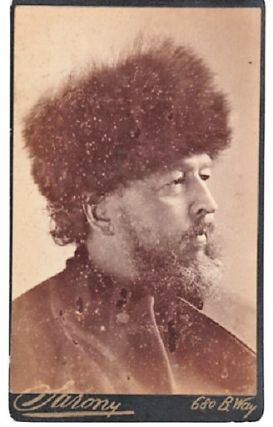 CARTE DE VISITE OF AMERICAN POET & TRAVEL WRITER BAYARD TAYLOR, PHOTOGRAPHED BY NAPOLEON SARONY....