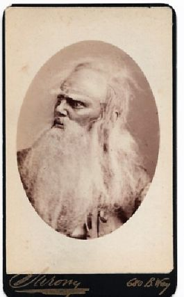 CARTE DE VISITE OF AMERICAN ACTOR JOSEPH JEFFERSON IN CHARACTER AS RIP VAN WINKLE, PHOTOGRAPHED BY NAPOLEON SARONY. Joseph Jefferson.
