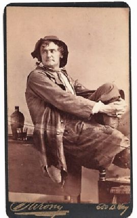 CARTE DE VISITE OF AMERICAN ACTOR JOSEPH JEFFERSON IN CHARACTER AS RIP VAN WINKLE, PHOTOGRAPHED...