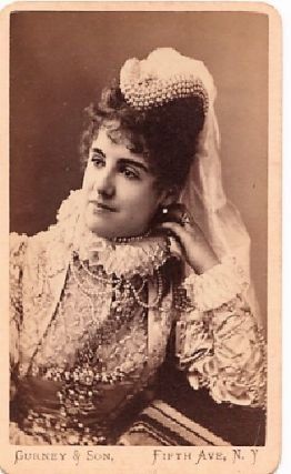 CARTE DE VISITE OF ENGLISH ACTRESS ADELAIDE NEILSON IN CHARACTER, PHOTOGRAPHED BY GURNEY & SON....