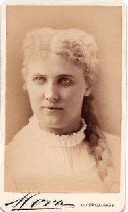 CARTE DE VISITE OF ENGLISH ACTRESS ADELAIDE NEILSON, PHOTOGRAPHED BY MORA. Lilian Adelaide Neilson