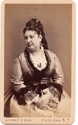 CARTE DE VISITE OF OPERATIC SOPRANO EUPHROSYNE PAREPA-ROSA, PHOTOGRAPHED BY GURNEY & SON....