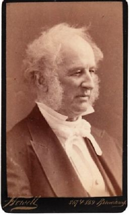 CARTE DE VISITE OF AMERICAN BUSINESSMAN CORNELIUS VANDERBILT, PHOTOGRAPHED BY WILLIAM ROE HOWELL....
