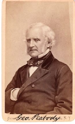 CARTE DE VISITE OF AMERICAN BUSINESSMAN & PHILANTHROPIST GEORGE PEABODY, PHOTOGRAPHED BY GURNEY &...