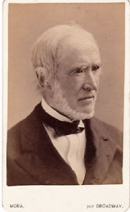 CARTE DE VISITE OF AMERICAN LAWYER & POLITICIAN CHARLES O'CONOR, PHOTOGRAPHED BY MORA. Charles...