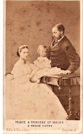 CARTE DE VISITE OF PRINCE ALBERT EDWARD [later Edward VII] AND PRINCESS ALEXANDRA AND PRINCE...