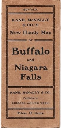 RAND, McNALLY & CO.'S NEW HANDY MAP OF BUFFALO AND NIAGARA FALLS [cover title]. New Commercial...