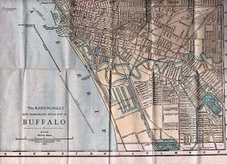 RAND, McNALLY & CO.'S NEW HANDY MAP OF BUFFALO AND NIAGARA FALLS [cover title]. New Commercial Atlas Map of Buffalo.