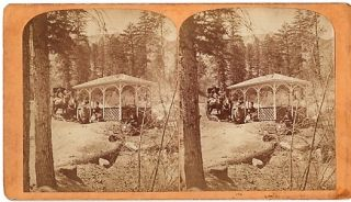 "STEREOSCOPIC VIEW OF ""LITTLE CHIEF"" IRON SPRING, ONE MILE FROM MANITOU HOUSE, MANITOU, COLORADO. ..."
