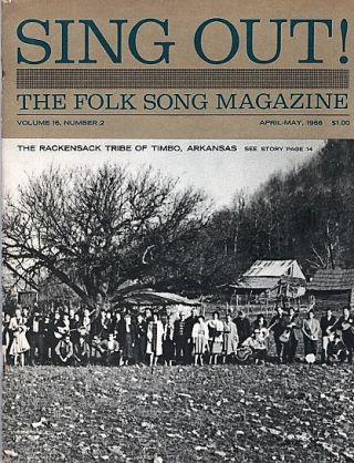 """SING OUT! THE FOLK SONG MAGAZINE"", Volume 16, Number 2, April-May 1966. Sing Out magazine"