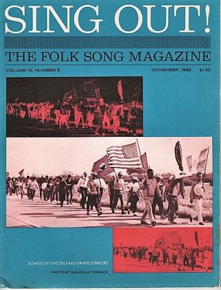 """SING OUT! THE FOLK SONG MAGAZINE"", Volume 16, Number 5, November 1966. Sing Out magazine"