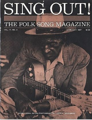 """SING OUT! THE FOLK SONG MAGAZINE"", Volume 17, Number 3, June/July, 1967. Sing Out magazine"