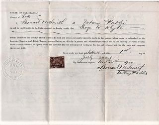 1899 RELEASE OF DEED OF TRUST FOR EMMA G. EDWARDS AND C.A. EDWARDS, COVERING THEIR HOUSE AND LOT...