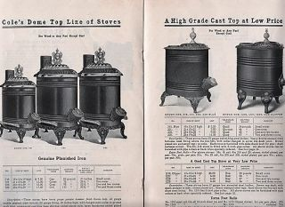 COLE'S ORIGINAL HEATERS FROM CHICAGO: 1903 Price List.