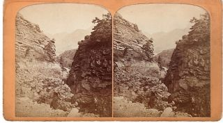 STEREOSCOPIC VIEW, THE UTE PASS: One Mile from Manitou House, Manitou, Colorado. Gurnsey's...