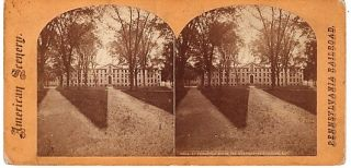 STEREOSCOPIC VIEW, NASSAU HALL. Princeton New Jersey