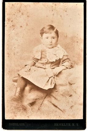 ALBUMEN PRINT OF A TODDLER, BY BROOKLYN PHOTOGRAPHER DOUGLASS. Brooklyn New York