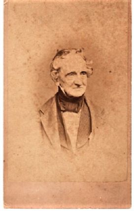 CARTE DE VISITE OF AMERICAN PORTRAIT PAINTER, THOMAS SULLY (1783-1872). Thomas Sully