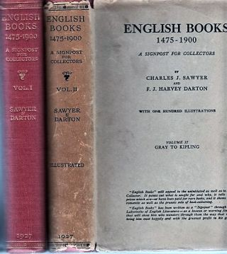 ENGLISH BOOKS, 1475-1900: A Signpost for Collectors. Volume I: Caxton to Johnson; Volume II:...