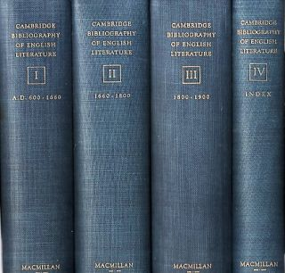 THE CAMBRIDGE BIBLIOGRAPHY OF ENGLISH LITERATURE. F. W. Bateson