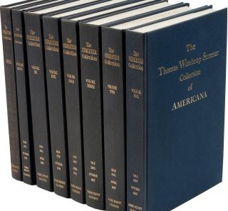 THE CELEBRATED COLLECTION OF AMERICANA FORMED BY THE LATE THOMAS WINTHROP STREETER...Volumes 1-7...