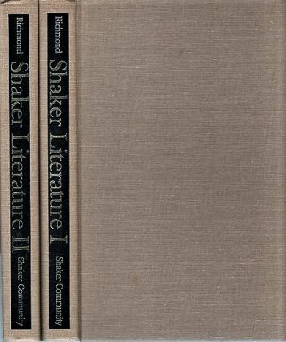 SHAKER LITERATURE: A Bibliography. In Two Volumes. Mary L. Richmond, compiler