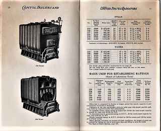 THE COMPLETE LINE: CAPITOL BOILERS AND UNITED STATES RADIATORS
