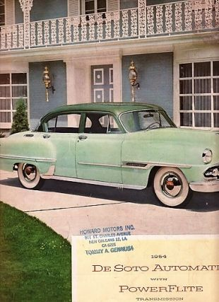 1954 DE SOTO AUTOMATIC WITH POWERFLITE TRANSMISSION. Chrysler Corporation DeSoto Division