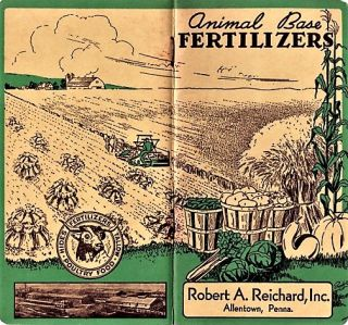 ANIMAL BASE FERTILIZERS [pocket notebook]. Robert A. Reichard