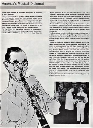 BENNY GOODMAN PRESENTS AMERICA'S TOP JAZZ CONCERT: This concert will mark Benny Goodman's Silver Anniversary -- 25 Years of Swing. Concert souvenir.
